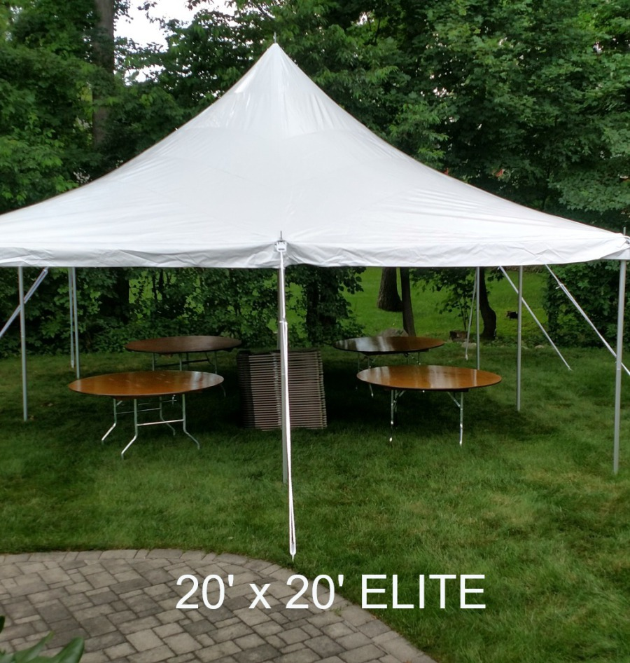 Our Canopy Tents Are All White, Yellow/white, Blue/white, Come In Different  Sizes Starting At 20u0027 X 20u0027 And Are Professionally Installed.